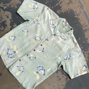 Tommy Bahama Hibiscus Flower Camp Shirt